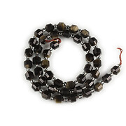 Sirag obsidian auriu fatetat 7x6mm