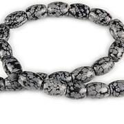 Sirag snowflake obsidian butoias 14-16x12mm