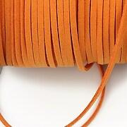 Snur suede (imitatie piele intoarsa) 3x1mm, portocaliu (5m)