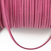 Snur suede (imitatie piele intoarsa) 3x1mm, roz (5m)