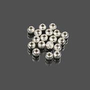 Distantier argintiu 4mm (100 buc.)