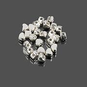 Distantier argintiu inima 3x4mm (100 buc.)