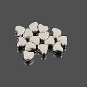 Distantier argintiu inima 6x5mm (100 buc.)