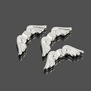 Distantier argintiu aripi de inger 21x7,5mm