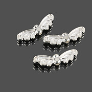 Distantier argintiu aripi de fluture 22x7mm