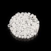 Margele de nisip pentru brodat 2,5x1,5mm, 10 grame - interior alb