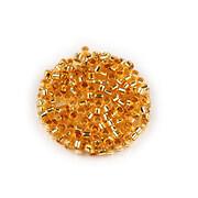 Margele de nisip pentru brodat 2x1,5mm, 10 grame - auriu cu foita