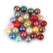 Perle de sticla, sfere 8mm - mix (100 buc.)