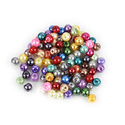 Perle de sticla, sfere 4mm - mix (100 buc.)