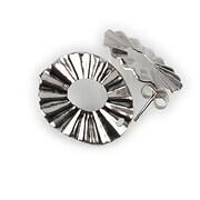 Tortite cercei otel inoxidabil 304 argintiu inchis 21,5x18mm (2 buc.)
