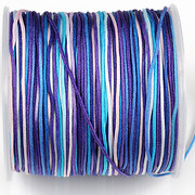 Snur Shamballa Dandelion grosime 1mm, rola de 100m - albastru multicolor