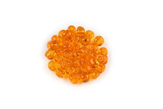 Margele de nisip 4mm (50g) - cod 066 - portocaliu