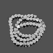 Sirag hematit electroplacat inima 6x6,5mm - argintiu