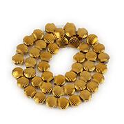Sirag hematit electroplacat scoica 8,5x9mm - auriu inchis
