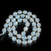 Sirag jad poligon fatetat 7x6,5mm - albastru deschis