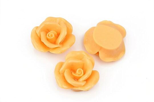 Cabochon rasina trandafir 20mm - portocaliu deschis
