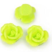 Cabochon rasina trandafir 20mm - verde deschis