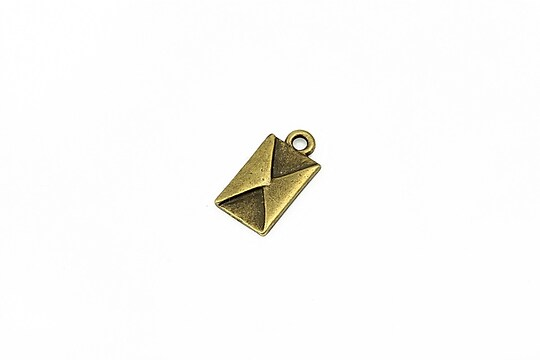 Charm bronz plic 16x8mm