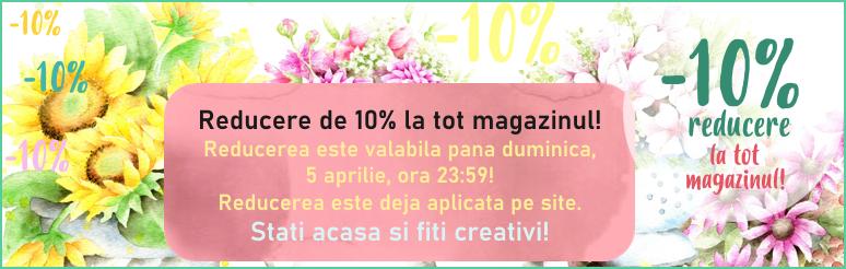 Reducere de 10% la tot magazinul!