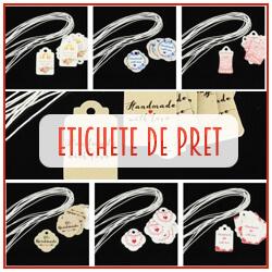 Etichete de pret pentru bijuterii din carton cu elastic de prindere