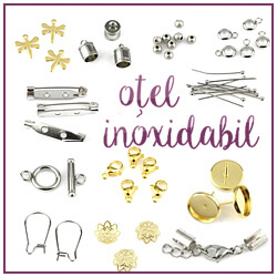 Accesorii bijuterii otel inoxidabil, tortite de cercei, distantiere, inchizatori