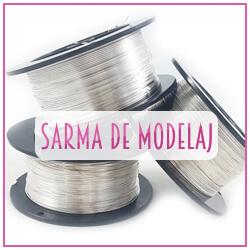Sarma de modelaj argintata, aluminiu, cupru.